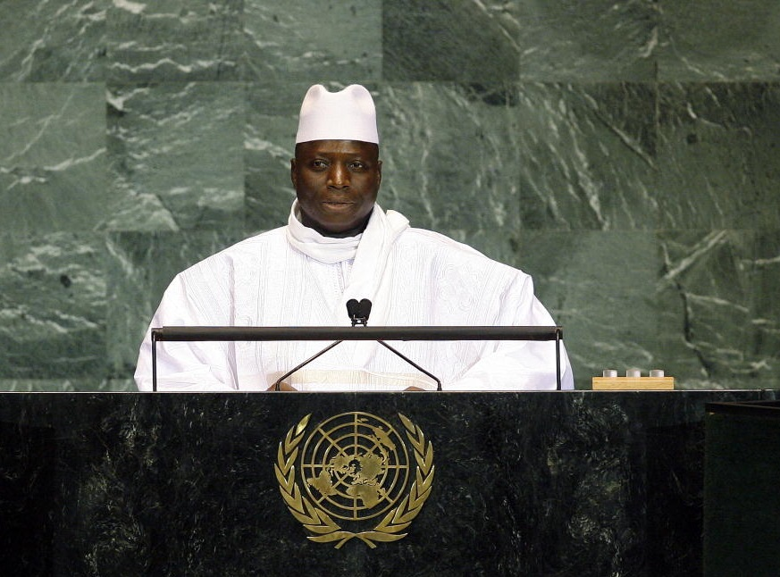 Al Hadji Yahya A.J.J. Jammeh, President of the Gambia, addresses the general debate of the sixty-fourth session of the General Assembly. 24/Sep/2009. United Nations, New York. UN Photo/Erin Siegal. www.unmultimedia.org/photo/